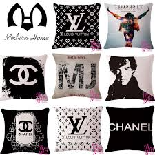 Designer Decorative Pillows For Couch Fashion High Quality Linen letter cushion cover decorative designer 75