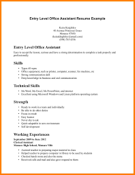 Entry Level Administrative Assistant Resume Samples 6 Entry Level Admin Resume Business Opportunity Program