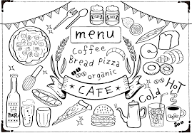 商用利用可おしゃれカフェ風のカフェラテやスイーツなどのかわいい