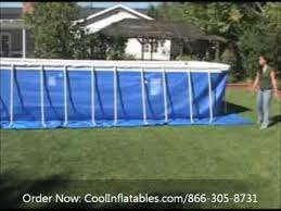 Intex Rectangular Metal Frame Pool Setup Instructions YouTube