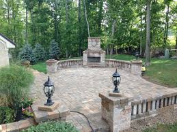 outdoor fireplace paver patio powell oh columbus