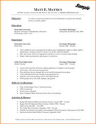 Collection Of Solutions Sample Tutor Resume Objective Tutor Resume