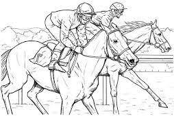 Race Horse Coloring Pages To Print Google Search Color Horses