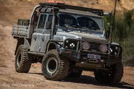 land rover defender. modified land rover defender 130 on the powerline