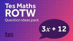 50 maths questions ideas tes maths resource of the week