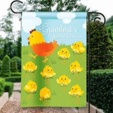 sgf 00543 grandma s favorite happy easter spring mothers day personalized garden house flag