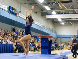 ucla gymnastics lands win over oklahoma in final home meet daily bruin
