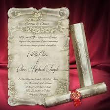 Scroll Birthday Invitations Scroll Wedding Invitation Card Personalized Beautiful Invitations