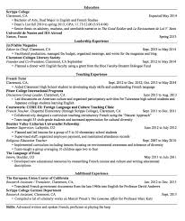 French Teacher Cv Kordurmoorddinerco Simple Resume In French