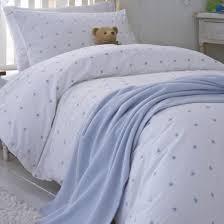organic blue stars cotton duvet set