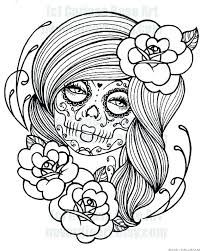 Day Of The Dead Free Coloring Sheets Bltidm