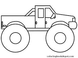 Monster Truck Coloring Page Monster Truck Coloring Pages Online
