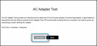 hp notebook pcs using and testing the ac power adapter hp note if the ac adapter