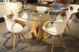 distressed wood round dining table detailed view detailed view detailed view detailed view
