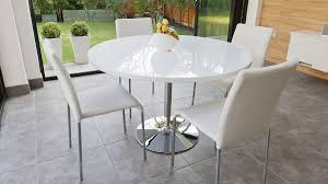 pictures gallery of paris white high gloss round dining table and 4 chairs set perth in round white gloss dining table