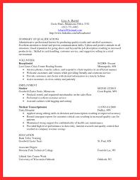 Medical Transcription Resume Samples cash handling resume good resume format 58