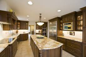 Kitchen, White Granite Kitchen Countertops Grey Metal Double Bowl Sink Twin  Orange Pendant Light Solid