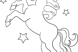 Cute Unicorn Coloring Pages With Free Printable Unicorn Coloring