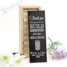Personalised Jenga Wedding Guest Book Gift For Engagement Wedding