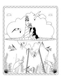 Small Picture Fantasy Floating Lighthouse Coloring Page For Adults Lee Towle