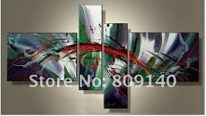 inspirational artwork for office. Stretched Abstract White Green Red Oil Painting Artwork Inspirational Handmade Modern Home Office Hotel Wall Art For