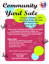 upcoming events community yard a partnership for community yard vendor flyer for media