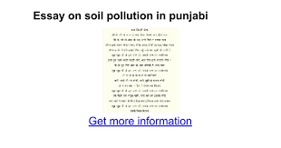essay on soil pollution in punjabi google docs