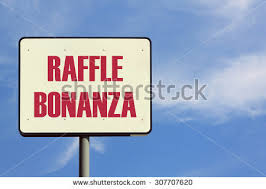 raffle sign raffle bonanza sign stock photo image royalty free 307707620