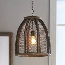 semi pendant light glossy orange finish. Chicken Wire Pendant Light - Large Semi Glossy Orange Finish