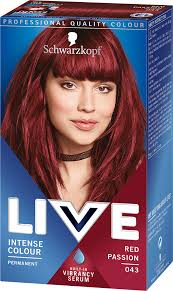 043 Red Passion Hair Dye By Live