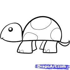 turtle drawing for kids.  For Drawings For Children   On How To Draw A Turtle For Kids Step By  Animals Drawing R
