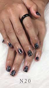 marble look manicure nail art with touch of gold - N20 Nail Spa