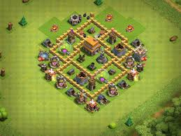 The Best Base Design For Clash Of Clans My Base Layout In Clash Of Clans With A Level 5 Town Hall