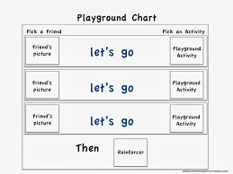 If Then Chart Autism Free Playground Schedule Increasing Engagement At Recess