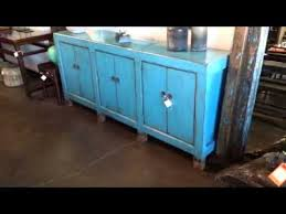 blue antique furniture. Terra Nova Asian And Contemporary Furniture - Solid Elm Antique Blue Painted Buffet Console U