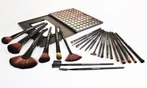 24 piece makeup brush set beauté basics 24 piece makeup brush set groupon
