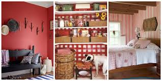 Red Country Kitchen Cabinets Decorating With Green Ideas For Rooms And Home Decor 44 Photos