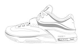 Air Jordan Shoes Coloring Pages 7717 With Shoe Viettiinfo