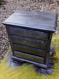 diy shabby chic furniture refurb krylon looking glass paint