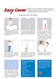 hanging instructions easy cover