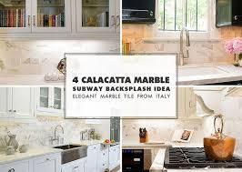 white calacatta gold marble subway white countertop idea
