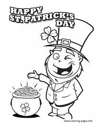 Keeping with the fun spirit, today we have brought for you an interesting collection of leprechaun coloring pages printable. A Happy Leprechaun Found Pot Of Gold On St Patricks Day Coloring Pages Printable