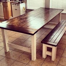 rustic tables. rustic dining table stained and distressed farmhouse bench | do it yourself home frckeot tables