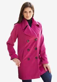 jessica london petite classic wool pea coat full beauty