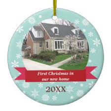 first home christmas decorations uk. snowflake flurry red banner teal custom photo christmas ornament first home decorations uk h
