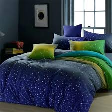 ikea blue green duvet cover midnight blue green and yellow dark knight scene star print 100