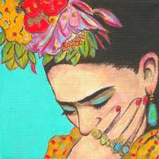 50 off frida kahlo print mexican folk art mexico painting frida thinks poster home decor wall art picturec