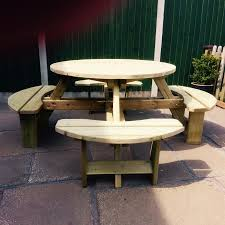 more views ref no 14113 sku cvwp101 westwood round 8 seater picnic table