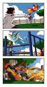 Team Leaders The Team Leaders Of Pokemon Go Training Their Eeveelutions