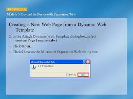 Creating a Dynamic Web Page Template Module 5: Beyond the Basics ...